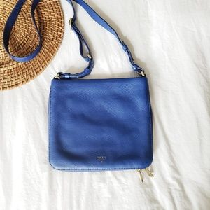 Fossil cross body bag purse Cobalt Royal Blue